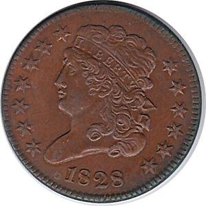 1828 Half Cent 13 Star Variety Uncirculated R/B