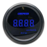 Vehicle Universal Car Tacho Rev Counter Gauge Tachometer W/Red LED RPM Light UK