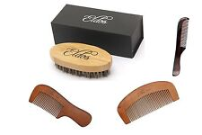 Mens Hair Brush Oval  with 3 free Moustache  combs