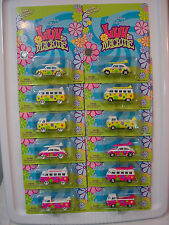 Complete 12 VW set  LUV Truck,Bus,Beetle✿Pink&Yellow✿x6 White Lightning∞LE #30