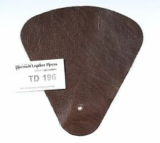 Basil Brown Scrap Leather Craft Piece aprox. .25 sqft  TD196
