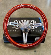 "14"" Chrome Steering Wheel Light Wood Stripe Chevy C10 Truck - Factory 2nd"
