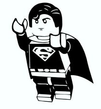 BLUE Lego Superman Wall Decal 3D Sticker Mural Childs Bedroom Playroom Nursery