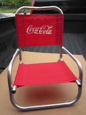 Coca-Cola Aluminum Beach Folding Chair Vintage