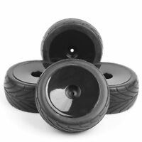 4Pcs 12mm Hex Rubber Front&Rear Tires Wheel Rims For RC 1:10 Off-Road Buggy Car