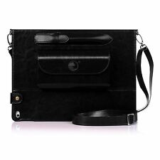 "Apple iPad Pro 12.9"" Case Tablet Protective Genuine Leather Cover stylus Black"