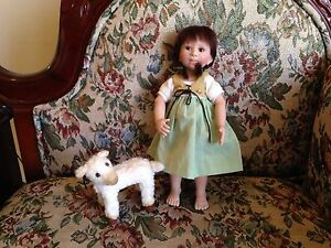 "BERDINE CREEDY Limited Edition LE #2/100 10"" Vinyl Heidi Doll With Pet Lamb"