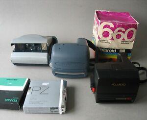 Konvolut 3 x Polaroid Kamera Landkamera + 2 Filme in OVP