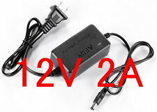 AC Converter Adapter DC 12V 2A Power Supply US plug DC 5.5mm 2000mA for LED CCTV