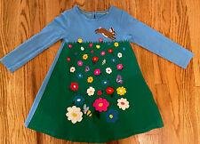 Mini Boden Girls Bunny Flowers Appliqué Jersey Tunic TOP Dress NWOT 4-5 4T 5T
