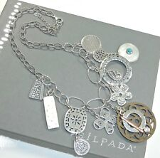 Silpada Exclusive 10 Year Anniversary Rep Necklace Charm .925 Sterling Silver