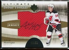 2011-12 Ultimate Debut Threads Autographs Adam Henrique Rookie Jersey Auto 36/50