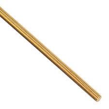 M3 X 250mm Brass Fully Threaded Rod Right Hand Threads