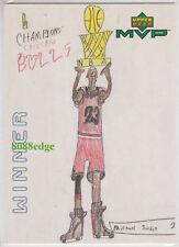 1999-00 UPPER DECK MVP DRAW YOUR OWN: MICHAEL JORDAN #W6 TRADING CARD BULLS