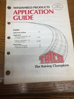 Vintage 1986 Trico Application Guide