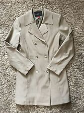 Braetan Light Beige Fully Lined Long Trench Coat Size Small