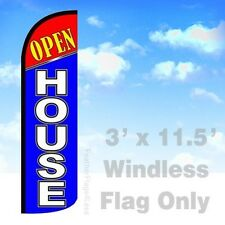 Flag Only 3' WINDLESS Swooper Feather Full Sleeve Banner Sign - OPEN HOUSE bq