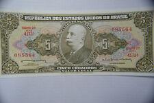 Brazil 1 Cruzeiro 1980, 5 Cruzeiros 1964, 2 Reals 2010 Banknotes.