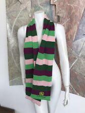 John Deere Striped Green Purple Pink Sweater Scarf