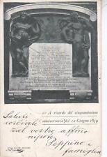 C3311) COMUNE DI BOLOGNA, A RICORDO DEL 50 ANNIVERSARIO DEL 12/6/1859. VIAGGIATA