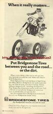 Bridgestone Tires Motorcycle 1979 Magazine Advert #443