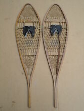 Vintage South Paris Maine Snow Shoes Snowshoes Fine Condition w/ Original Labels