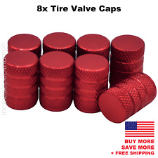 8x Universal Tire Valve Stem Caps For Car, Truck Standard Fitting (Red)