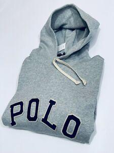 Ralph Lauren Men's Pullover long sleeve Hoodie  (Heather Grey) RRP £109