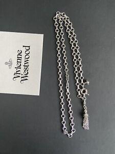 Vivienne Westwood Charm Bracelet Chain Pendant + Tassel Charm