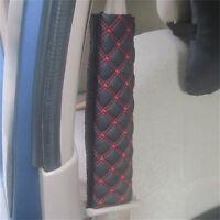 2x Cinturón de Seguridad Automóvil Hombro Cubierta Cojín Protector Almohadi~QA