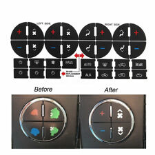 AC Button Repair Kits Dash Replacement For GM Vehicles Decal Sticker Universal