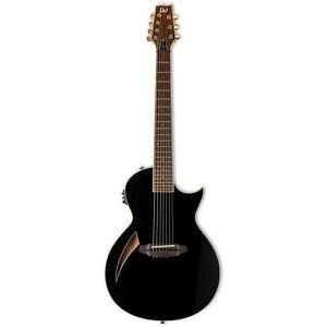 ESP LTD TL-7 Black Thinline 7-String Acoustic-Electric Guitar B-Stock