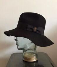 Emilio Pucci - Wide Brim Fedora Hat in Off Black