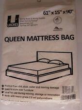 """UBoxes Waterproof Polyurethane Queen Mattress Bag 61""""X15""""X90"""" Protects Mattress"""