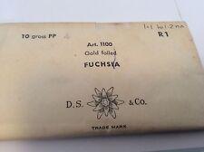 Swarovski #1100 Rhinestone Vintage Gold Foiled Fuchsia 1ss /1.1mm REPAIR CRAFT