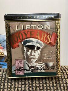 Vintage Collectible Lipton Tea Tin 100 Years Limited Edition 1990 England