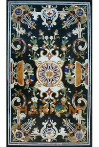4'x2' Marble Dining Table Top Pietra Dura Birds Inlay Art Furniture Decors B444