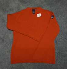BRITCHES Men's Ribbed Burnt Orange Sweater Pullover SZ L Large NEW WITH TAG NICE