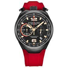 Stuhrling 894.04  VK Men's Japan Chronograph Rubber Strap Bullhorn Pusher Watch