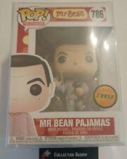 Limited Chase Edition Funko Pop! Television 786 Mr Bean Pajamas w/ Teddy Pop Mr.