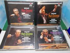 MOZART PIANO CONCERTOS 20 A 27 BERLINER PHILHARMONIKER BARENBOIM 4 CD AS NEW