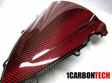 2009-2014 09-14 YAMAHA YZF R1 CARBON FIBER RED KEVLAR WINDSCREEN BUBBLE VERSION