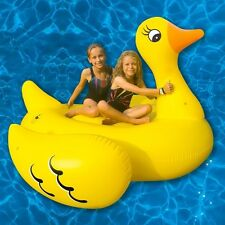 """GIANT 70"""" DUCK POOL FLOAT SWIMMING POOL RIDE ON TOY KIDS ADULTS INFLATABLE"""