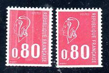 1 TIMBRE N°1816 et 1 VARIETE N°1816a- SANS PHOSPHORE-NEUFS-ISSUS DE CARNET-TTB**