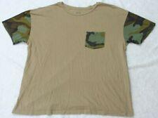 Haggar City Streets Beige Pocket Tee T-Shirt Large Man's Short Sleeve Top Cotton