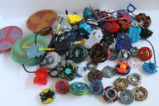 LOT METAL Plastic Rubber BEYBLADES + LAUNCHERS + RIP CORDS