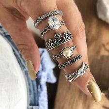 KD_ 6 Pcs/set Midi Finger Ring Set Vintage Punk Boho Knuckle Rings Jewelry Uti