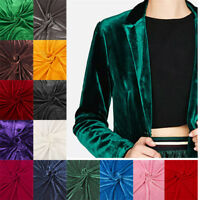 Stretch Velvet Fabric Knit Pleuche Material For Sports Velvet Cloth sold BY YARD