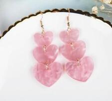 Orecchini di bigiotteria perle rosa di cuore