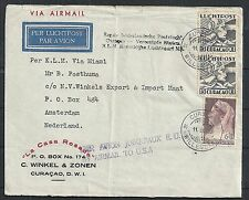 Curacao covers 1929 1st returnFlight PAA Curacao to Amsterdam / Lindbergh